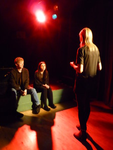 "In rehearsal for ""Toilet Talk"" teen production from Autumn 2015"