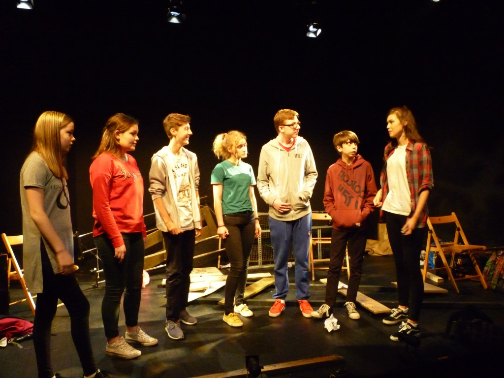 "Teen Drama Production Week 2015 performance of ""Almost"" at the New Theatre, Temple Bar."