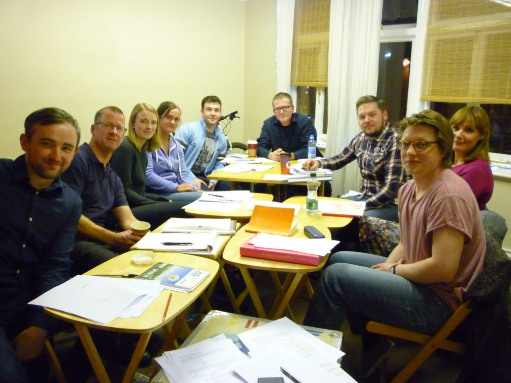 Facilitor Barry McEvoy and our first dynamic team of writers in the Intro to Screenwriting course 2015!